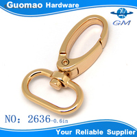0.6in metal d-ring snap hook for purse