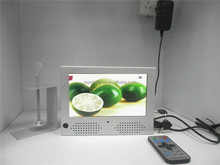 wall hanging 7'' small size lcd advertising screen , elevator and supermarket lcd ad display