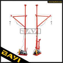 small portable interior crane 180 degree lightweight lift crane