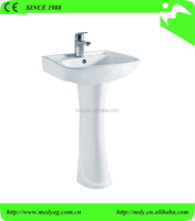cheap wash hand basin MHP-03 pedestal basin washing sink china supplier bathroom pedestal wash basin