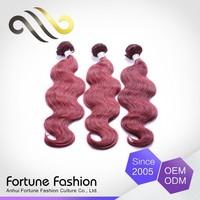 Direct Price Oem Colour Cheap Virgin Burgundy Red Human Hair