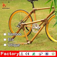 Custom made light weight 700C fixed gear bicycle frame bamboo road bike frame