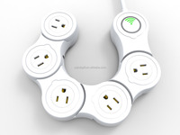 Intelligent smartphone remote control WIFI Multi-outlet USB Power Strip