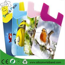 สติกเกอร์3mและหลายใช้ซิลิโคนผู้ถือบัตรกระเป๋าสตางค์โทรศัพท์มือถือ