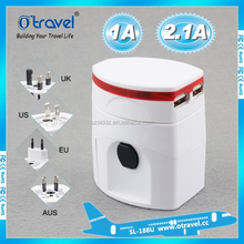 International Travel Universal Adapter Electrical Plug For UK/US/EU/AU to EU European Socket Converter White