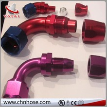 racing components and parts AN fittings of various sizes and degrees