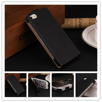Luxury Genuine Leather Flip Case for Apple Iphone 4 4S 4G Cover Back Cases