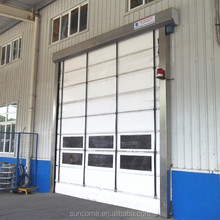 china workshop sectional high speed doors interior