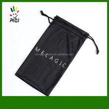 custom microfiber drawstring cell phone bag