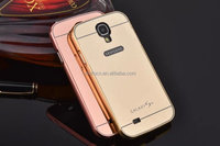 New product aluminum metal+PC back case for samsung galaxy s4 mirror cover case