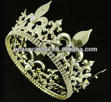 Wholesale Men's Imperial Medieval Fleur De Lis Gold King Crown CT1716