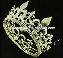 Wholesale Men's Imperial Medieval Fleur De Lis Gold King Crown CT1716