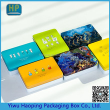 New Trend Various Customied Metal Card Tin Cans;Low Price Storage Tin Case