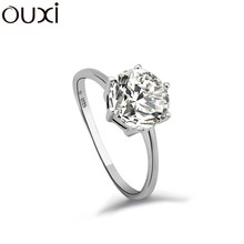 OUXI Wholesale Diamond Rings for Engagement 925 Sterling Silver Diamond Wedding Ring Y70011