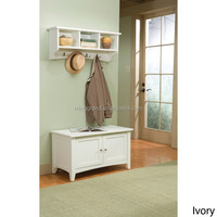 High Quality Enteryway Coat Hook with Storage Bench Set