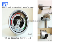 Made in china alibaba supplier wika Stainless steel high pressure SF6 gas pressure gauge