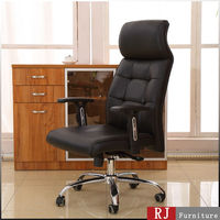 Affordable hi back leather chair recliner big factory made