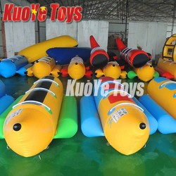 infltable flying fish boat, banana boat, water towable tube