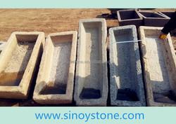 garden landscaping antique granite stone troughs