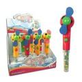 B/o de futebol mini ventilador de plástico brinquedos doces
