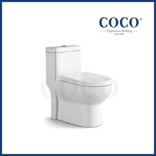 Bathroom siphonic toilet porcelain water closet