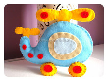 Hot sell Baby Nursery Decor Felt Stuffed Animal Plush Toy,Helicopter Nursery Decor cat made in China