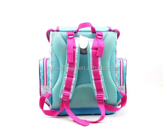 2014 fashion girl sac d'école avec impression personnalisée