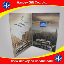 Programmable promotional gift company video invitation lcd video greeting card