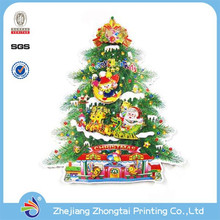 PVC 3D christmas laser attractive decorative wall stickers