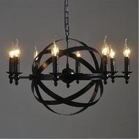 Nordic loft style Mediterranean industrial round candles pendant light
