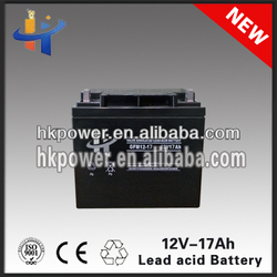 Hiking 12 volt 17ah rechargeable storage battery