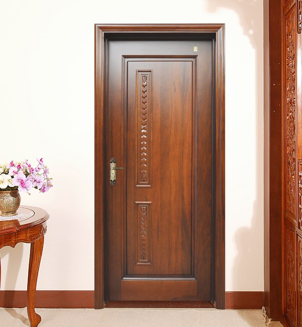 Finger joint pine raised panel wooden decorative door for Main door panel design