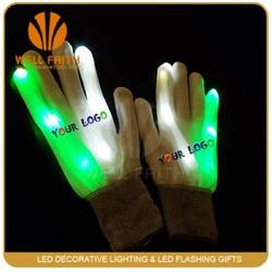 Factory price high quality led glove light,LED flashing lighted up led bick gloves