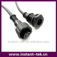 hollow pin waterproof connector with cable