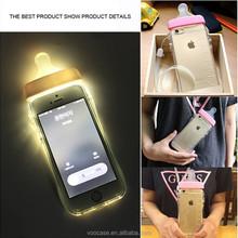 Fashion Style Baby feeding Bottle Soft TPU Mobile Phone Case for iPhone 6