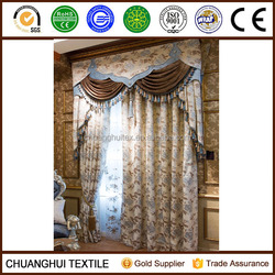 luxury jacquard fabric for curtain and drapery widely used in home and country house