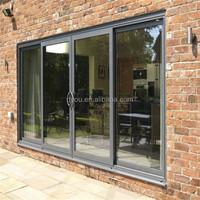 wholesale aluminum triple tracks sliding glass door