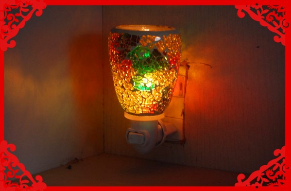 Mosaic Decorative Plug In Night Lights Wall Plug Night