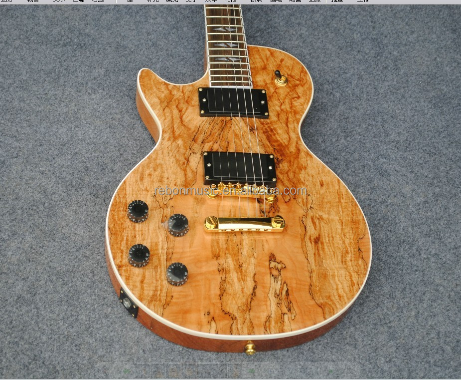Spalted Maple Guitar Ibanez Spalted Maple Rlp Style Guitar