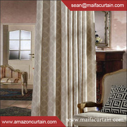 2016hot selling Microfiber Solid Thermal Insulated Printed Blackout Window Curtains
