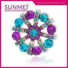 Wholesale New Fashion Bulk Covers Pearl Rhinestone Button