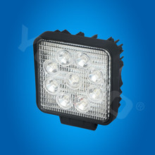 27W led working light for fog Driving offroad boat lamp 4 x 4 ATV SUV truck square tail light