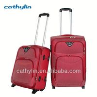 Hot selling trolley luggage built in combination luggage lock
