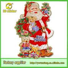Santa christmas paper ornament, home christmas decoration wholesale