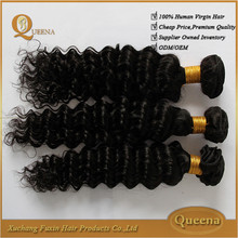 Top sale natural 6a 7a quality unprocessed full cuticle 100% brazilian deep curly hair