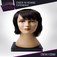 Beautiful Machine Made 100% Natural Human Short Straight Bob Style Wig