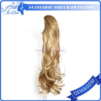 Trade assurance paypal accepted synthetic hair human hair ponytail extension, black girl hair extensions, hair band extensions