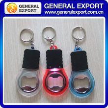 LED Light Opener Plastic Bottle Opener Keychain