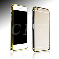 Luxury Dual color aluminium bumper case for iphone 6 plus with retail blister packaging