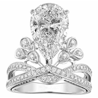 New famous design for bridal fashion acessories wholesale top quality wedding ring